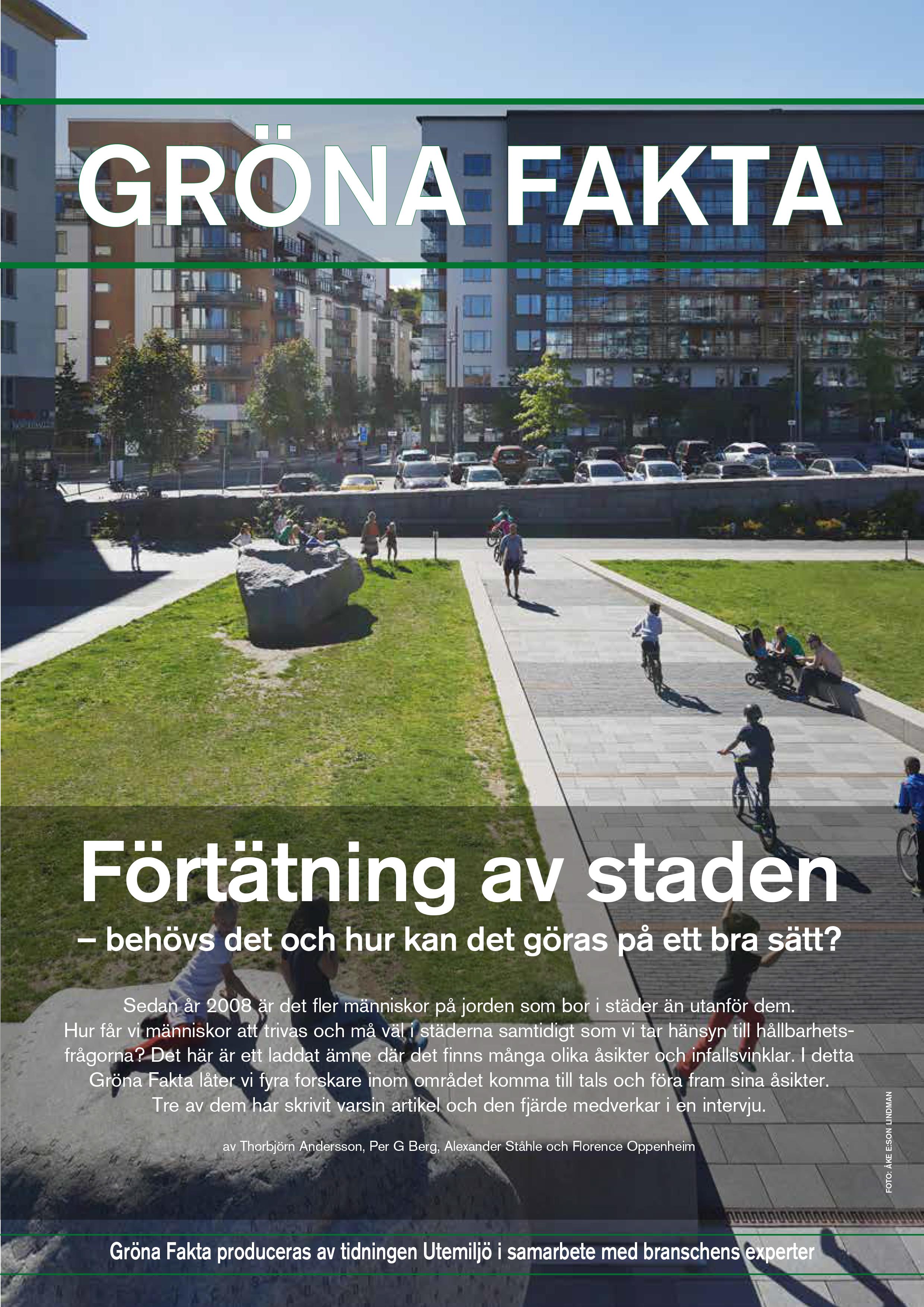 Gröna Fakta nr 2 2015 - Förtätning
